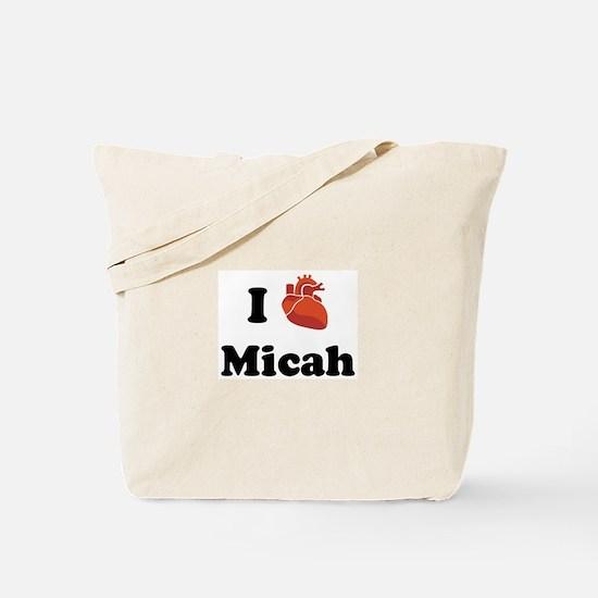 I (Heart) Micah Tote Bag