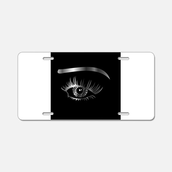 Unique Eyeball Aluminum License Plate
