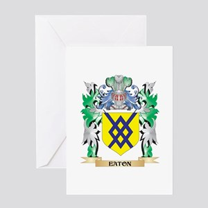 Eaton Coat of Arms (Family Crest) Greeting Cards