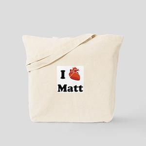 I (Heart) Matt Tote Bag