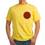 Red Pattern 003 Yellow T-Shirt