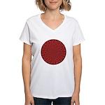 Red Pattern 003 Women's V-Neck T-Shirt
