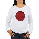 Red Pattern 003 Women's Long Sleeve T-Shirt