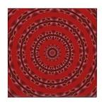 Red Pattern 003 Tile Coaster