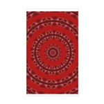 Red Pattern 003 Rectangle Sticker