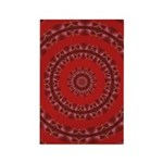 Red Pattern 003 Rectangle Magnet (100 pack)