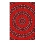 Red Pattern 003 Postcards (Package of 8)