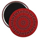 Red Pattern 003 Magnet