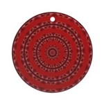 Red Pattern 003 Ornament (Round)