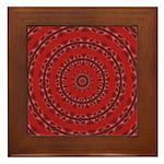 Red Pattern 003 Framed Tile