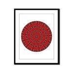 Red Pattern 003 Framed Panel Print