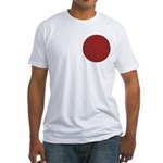 Red Pattern 003 Fitted T-Shirt