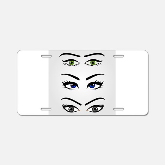 Cute Eyeball Aluminum License Plate