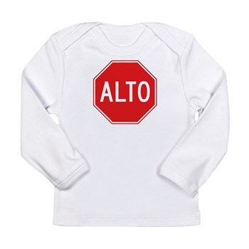 Stop, Mexico Long Sleeve Infant T-Shirt