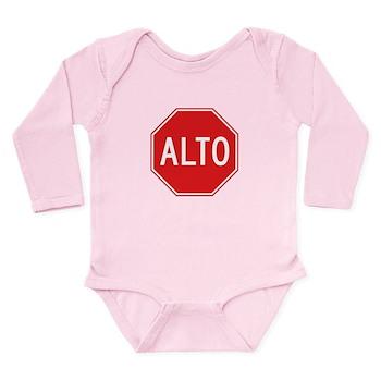 Stop, Mexico Long Sleeve Infant Bodysuit