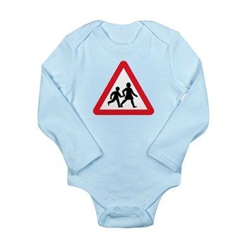 Children Crossing, UK Long Sleeve Infant Bodysuit