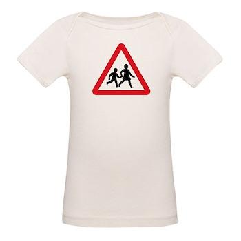 Children Crossing, UK Organic Baby T-Shirt