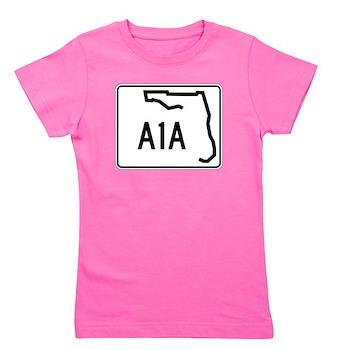 Route A1A, Florida Girl's Tee