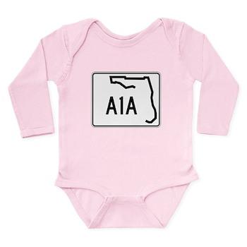 Route A1A, Florida Long Sleeve Infant Bodysuit