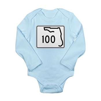 Route 100, Florida Long Sleeve Infant Bodysuit
