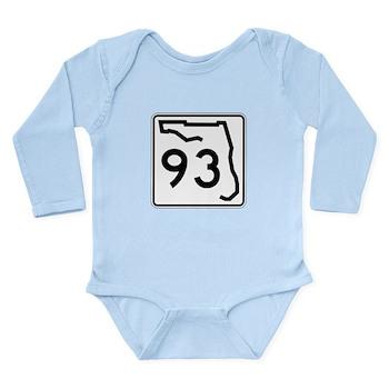 Route 93, Florida Long Sleeve Infant Bodysuit