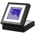 Climbing Guy Icon Keepsake Box
