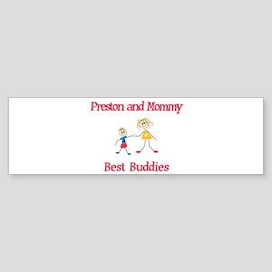 Preston & Mommy - Buddies Bumper Sticker