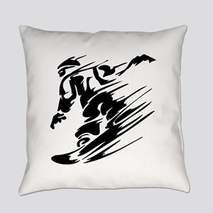 SNOWBOARDING! Everyday Pillow