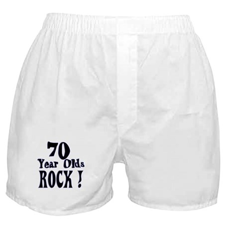 70 Year Olds Rock ! Boxer Shorts