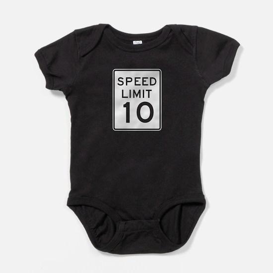 Speed Limit 10 - USA Baby Bodysuit