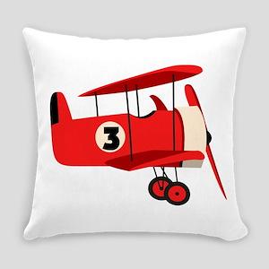 Vintage Airplane Everyday Pillow