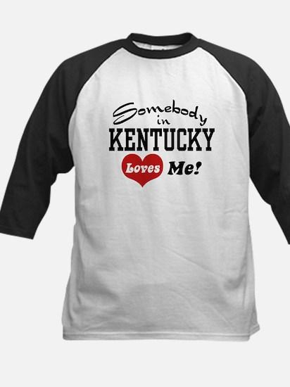 Somebody in Kentucky Loves Me Kids Baseball Jersey