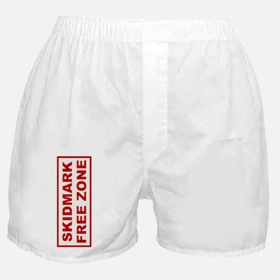 Skidmark Free Zone Boxer Shorts
