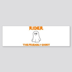 Rider the Friendly Ghost Bumper Sticker