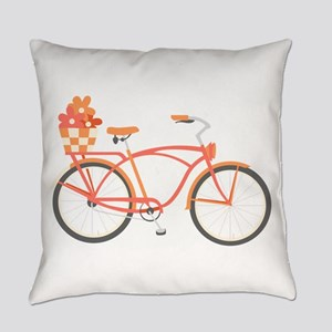 Pink Cruiser Bike Everyday Pillow