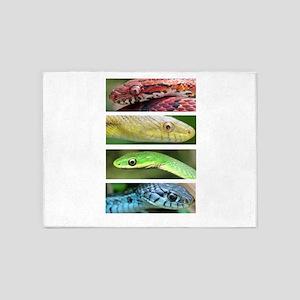Nature's Rainbow: Snakes 5'x7'Area Rug