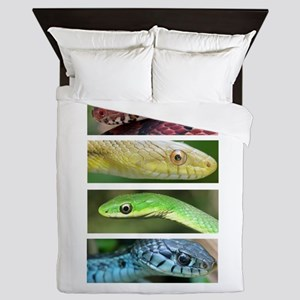 Nature's Rainbow: Snakes Queen Duvet