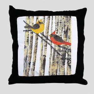 Cardinal Pair Throw Pillow