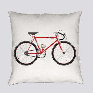 Red Road Bike Everyday Pillow