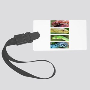 Nature's Rainbow: Snakes Large Luggage Tag