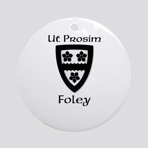 Foley Coat of Arms Round Ornament