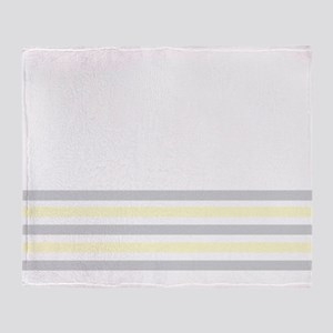 Gray and Yellow Bottom Stripe Throw Blanket