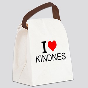 I Love Kindness Canvas Lunch Bag
