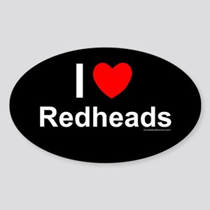 Redheads Sticker (Oval)