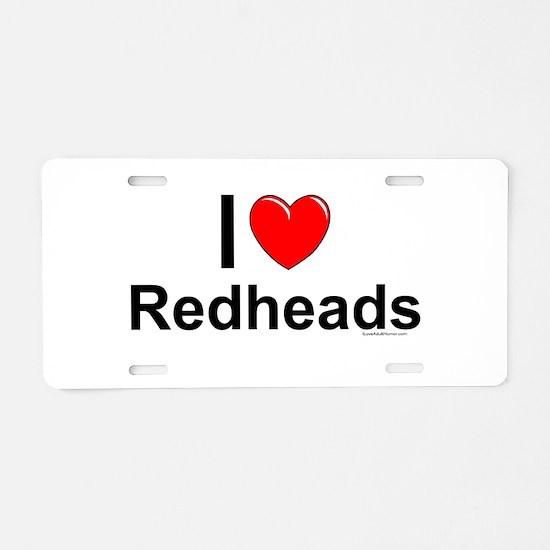 Redheads Aluminum License Plate