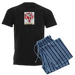Marron Men's Dark Pajamas