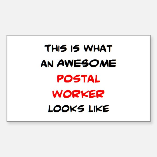 awesome postal worker Sticker (Rectangle)