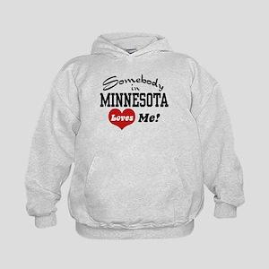 Somebody in Minnesota Loves Me Kids Hoodie