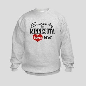 Somebody in Minnesota Loves Me Kids Sweatshirt