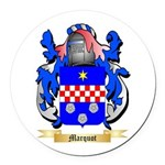 Marquot Round Car Magnet
